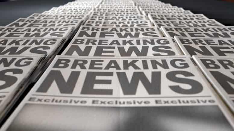 Zeitungs-Schlagzeilen